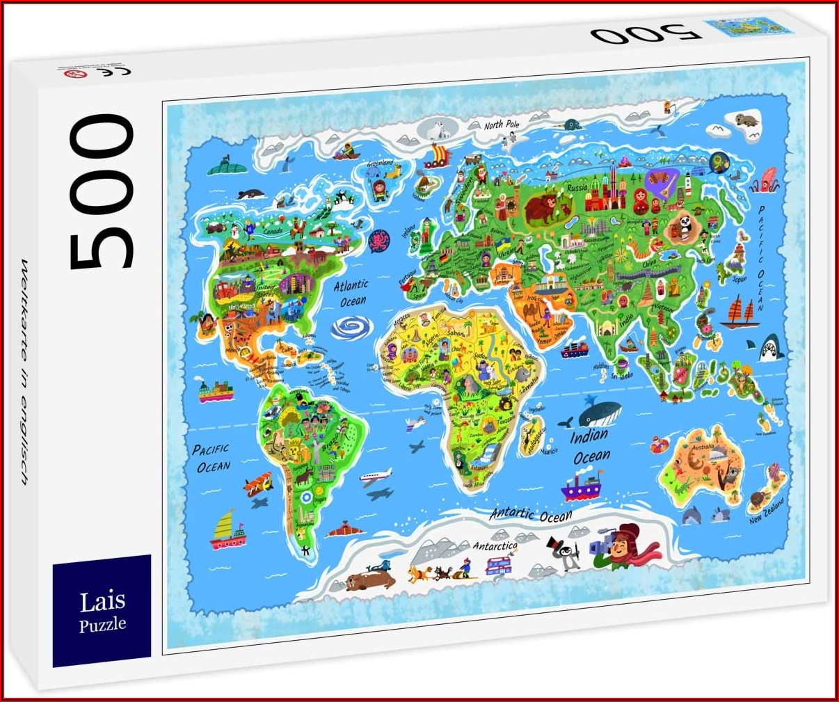 World Map Jigsaw Puzzle 500 Pieces