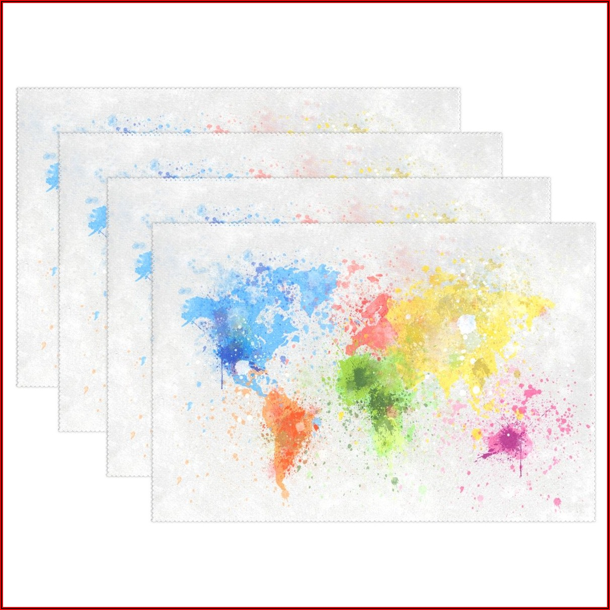 World Map Placemats Paper