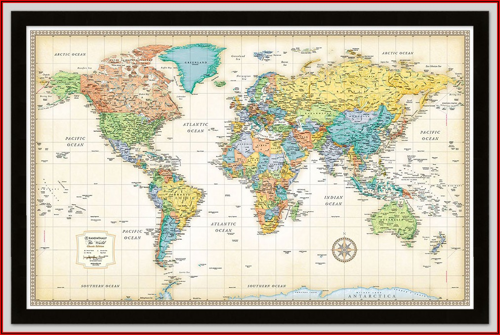 World Map Rand Mcnally