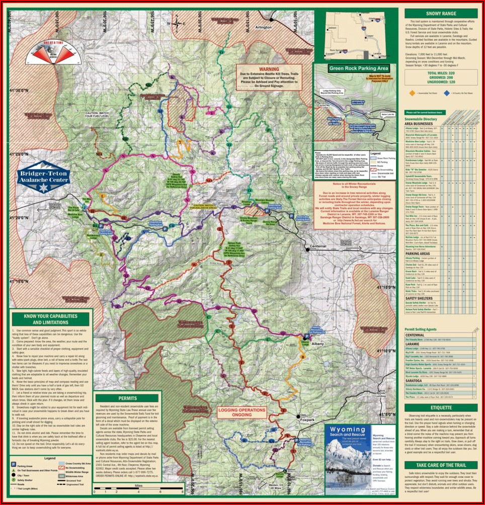 Wyoming Snowmobile Gps Trail Maps