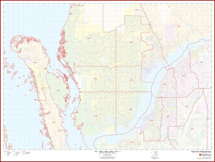 Zip Code Map Cape Coral Florida