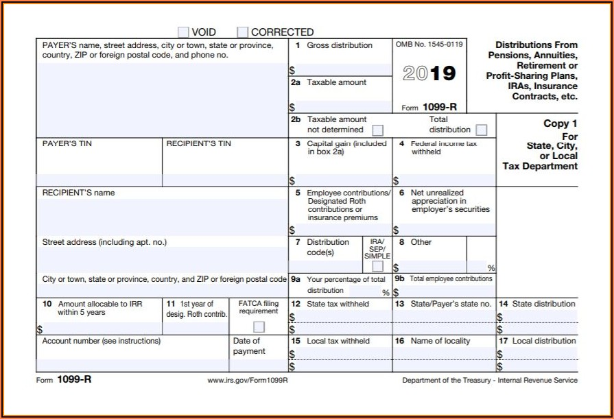 1099 Employer Form 2019