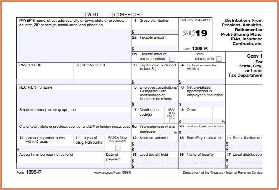 1099 Employer Form 2019