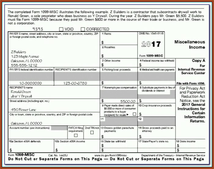 1099 Employer Form
