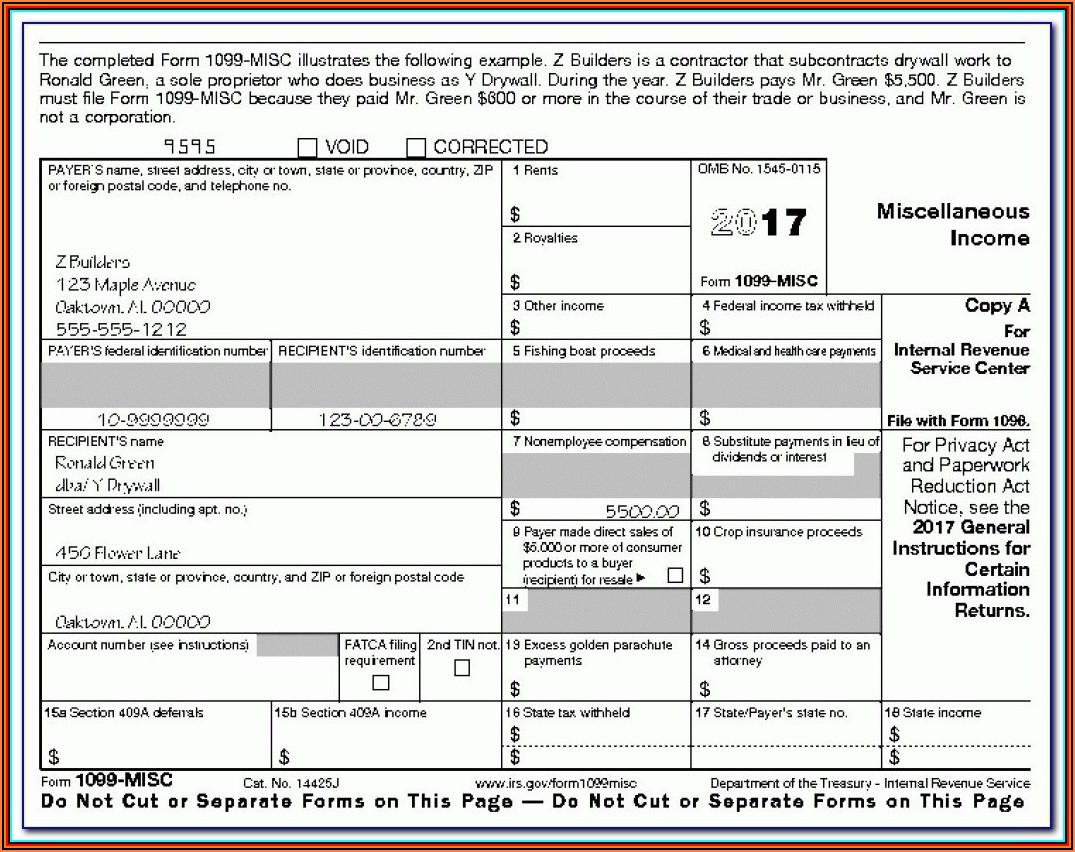 1099 Employer Form