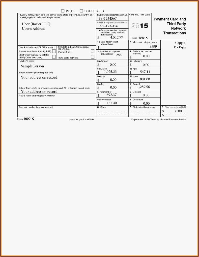 1099 Int Template For Preprinted Forms