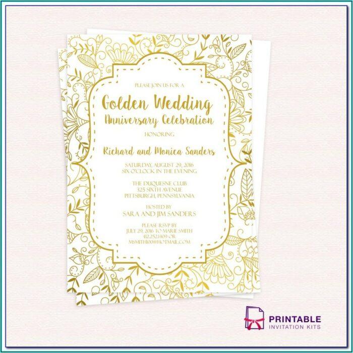 40th Wedding Anniversary Invitations Templates Free Download