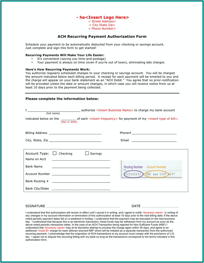 Ach Form Template Word