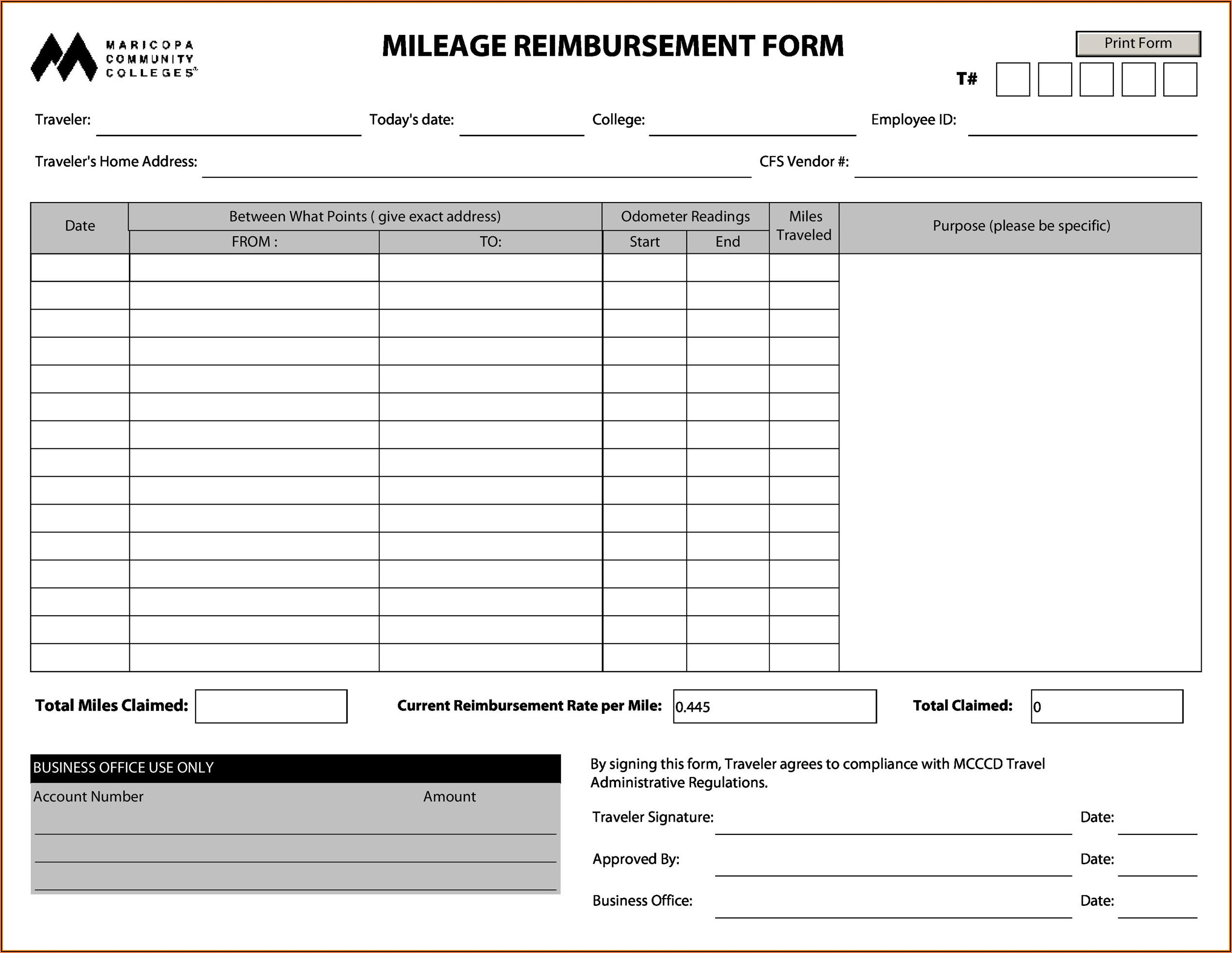 Alabama Workers Compensation Mileage Reimbursement Form