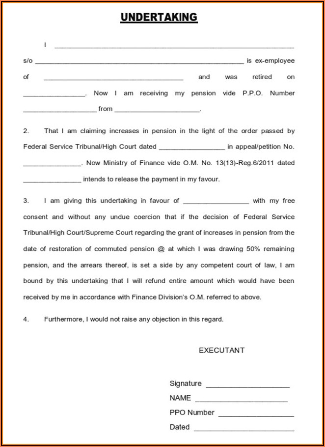 Application Form For Restoration Of Commuted Pension