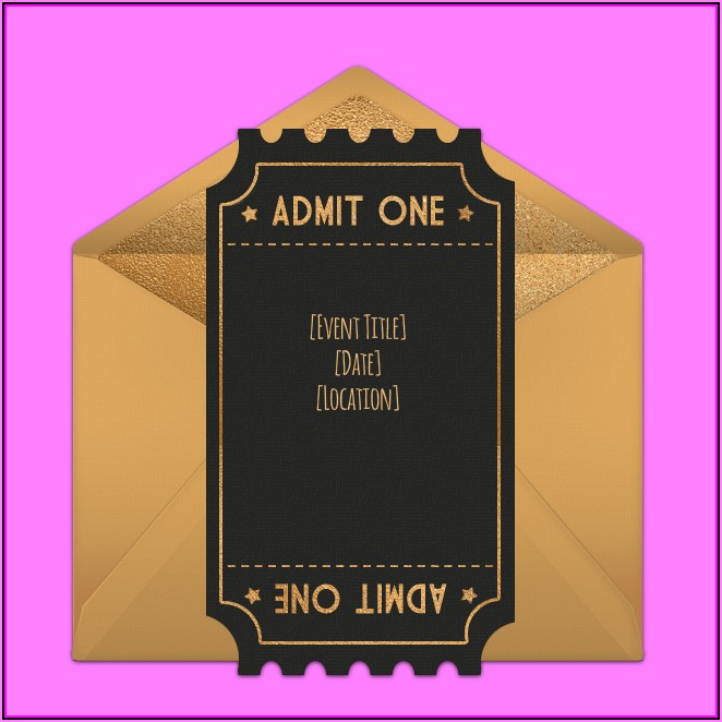 Awards Night Invitation Template Free