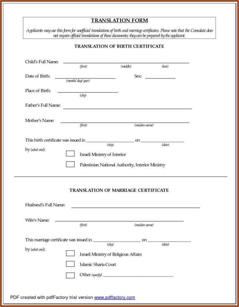 Birth Certificate Translation Form Sri Lanka
