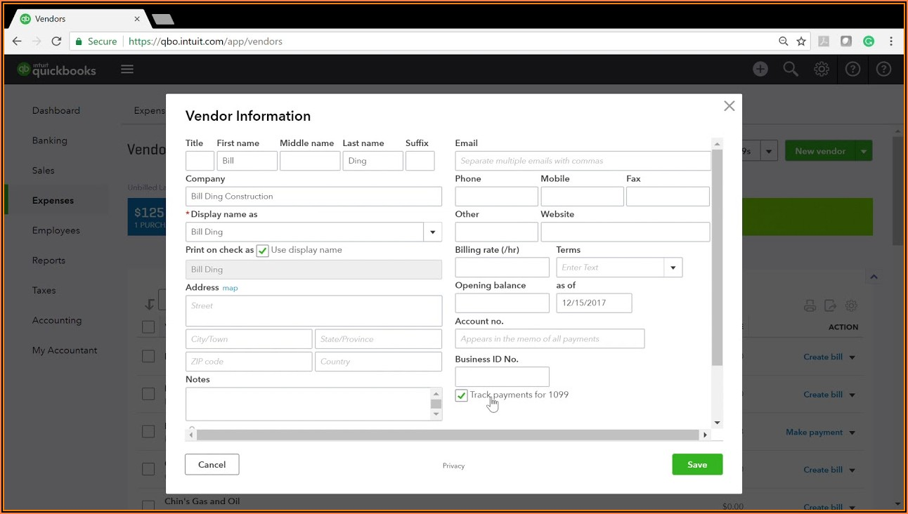 Blank 1099 Form For Quickbooks