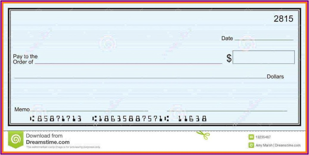 Blank Checks Template In Pdf