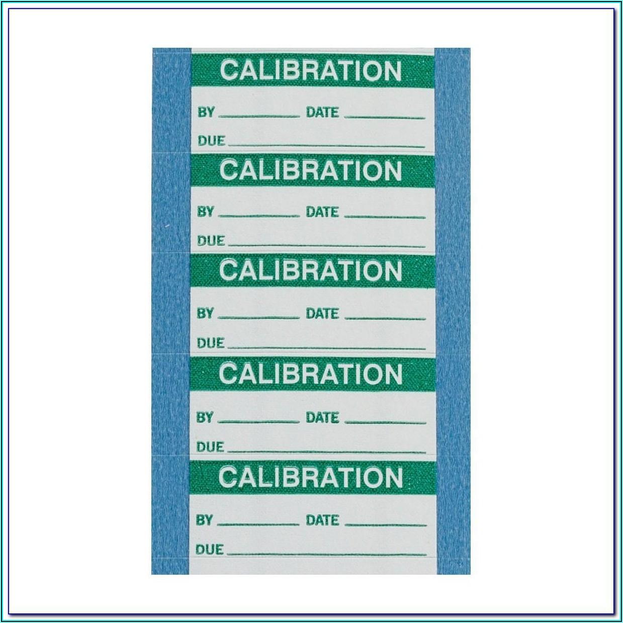 Calibration Label Template