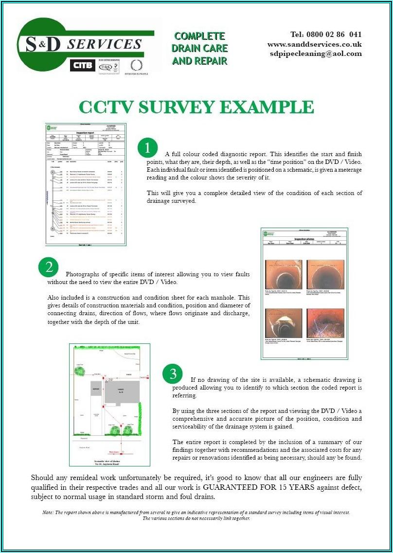 Cctv Inspection Report Template