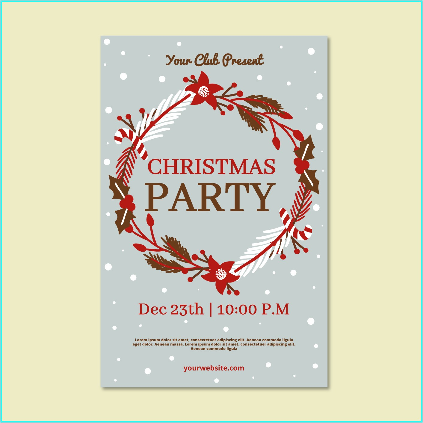 Christmas Flyer Template Vector Free Download