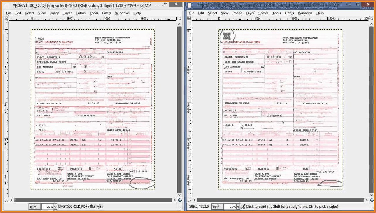 Cms 1500 Form 02 12 Fillable