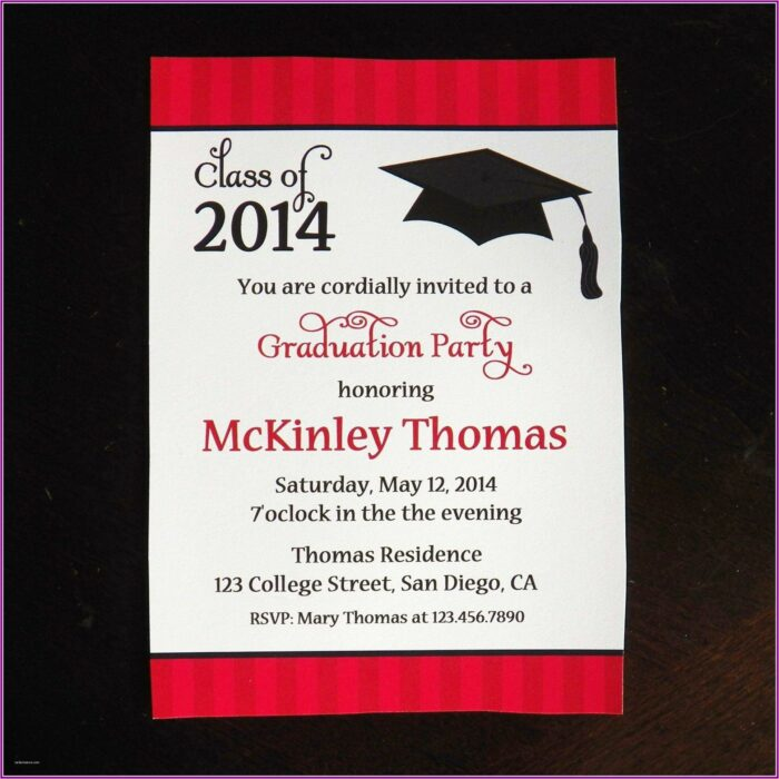 College Grad Invitations Templates