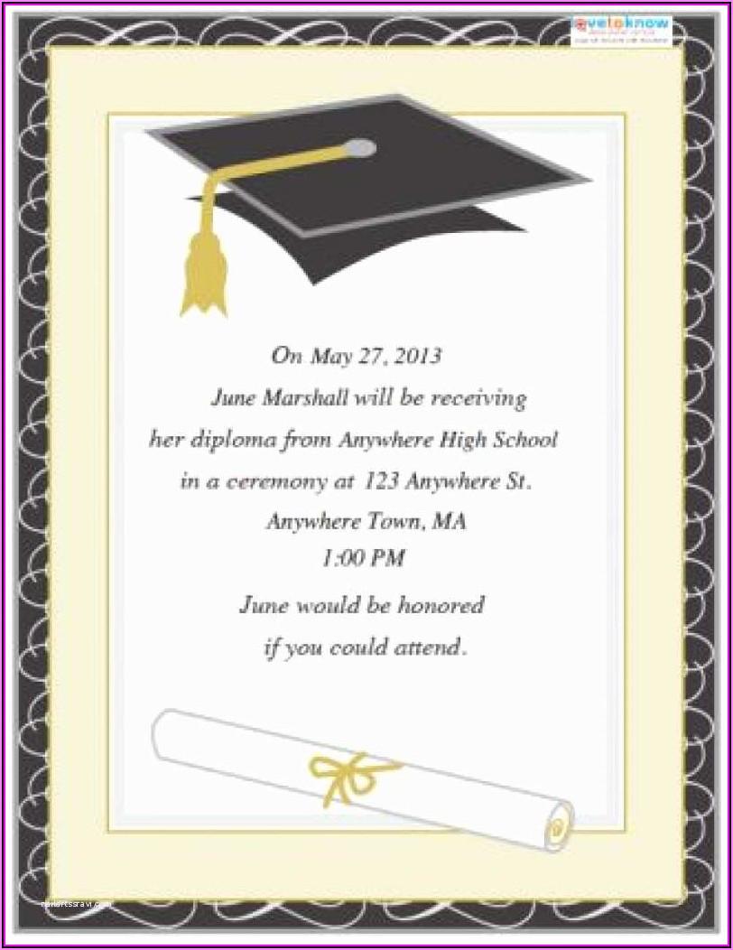 College Graduation Invitations Templates
