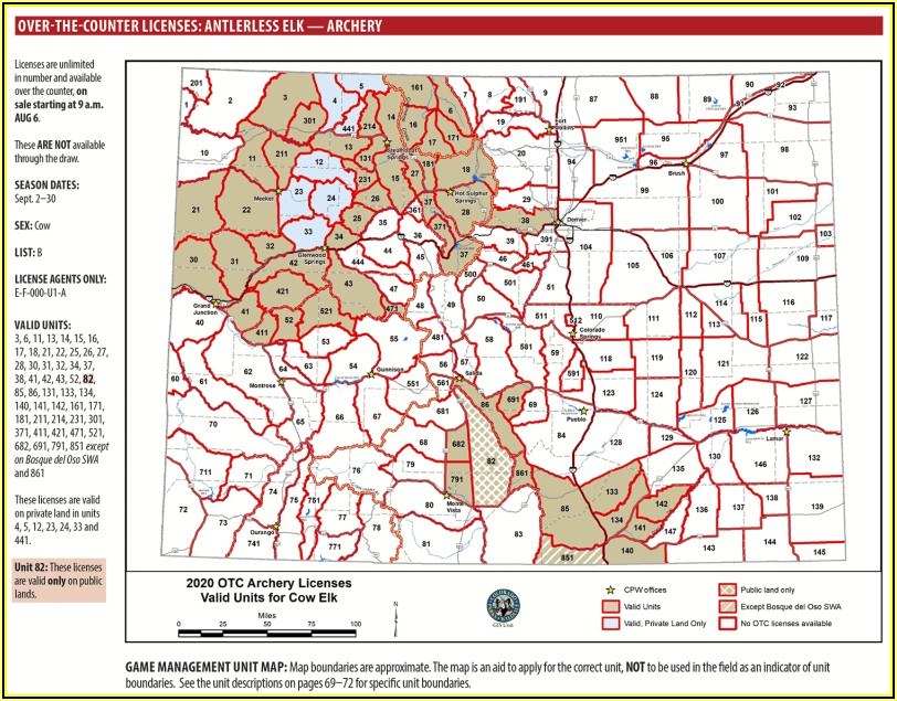 Colorado Elk Hunting Unit Maps