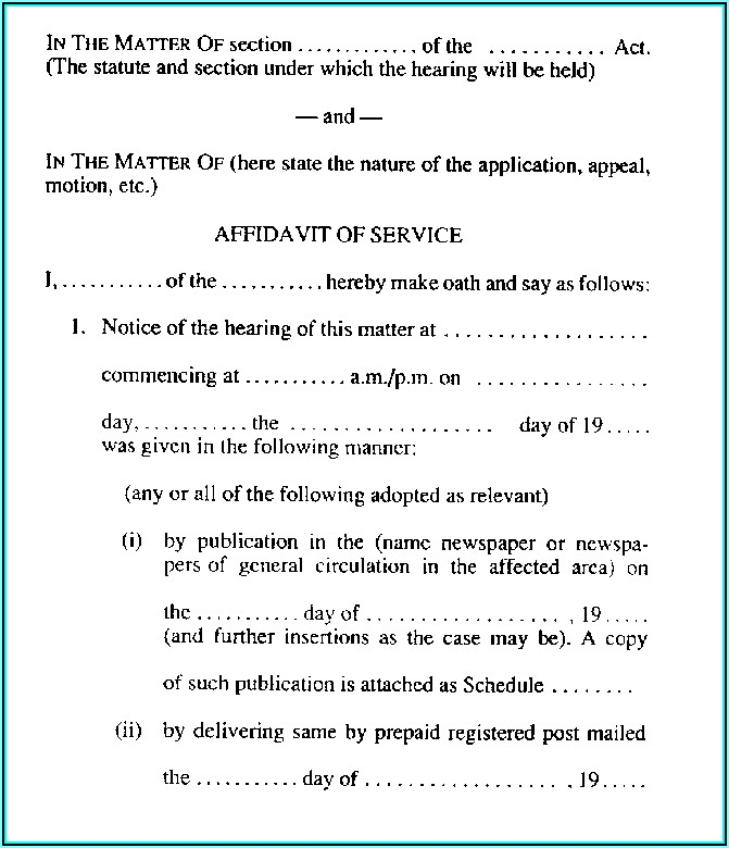 Common Law Affidavit Template Ontario