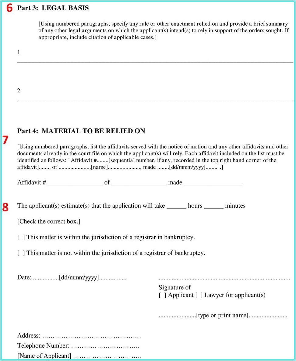 Common Law Affidavit Template Osap