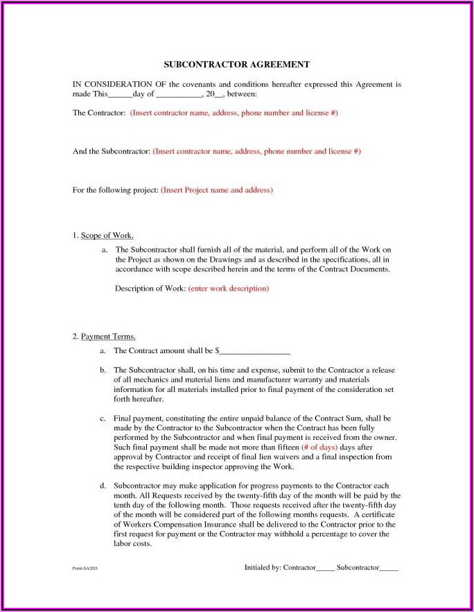 Contractor Contract Template Australia