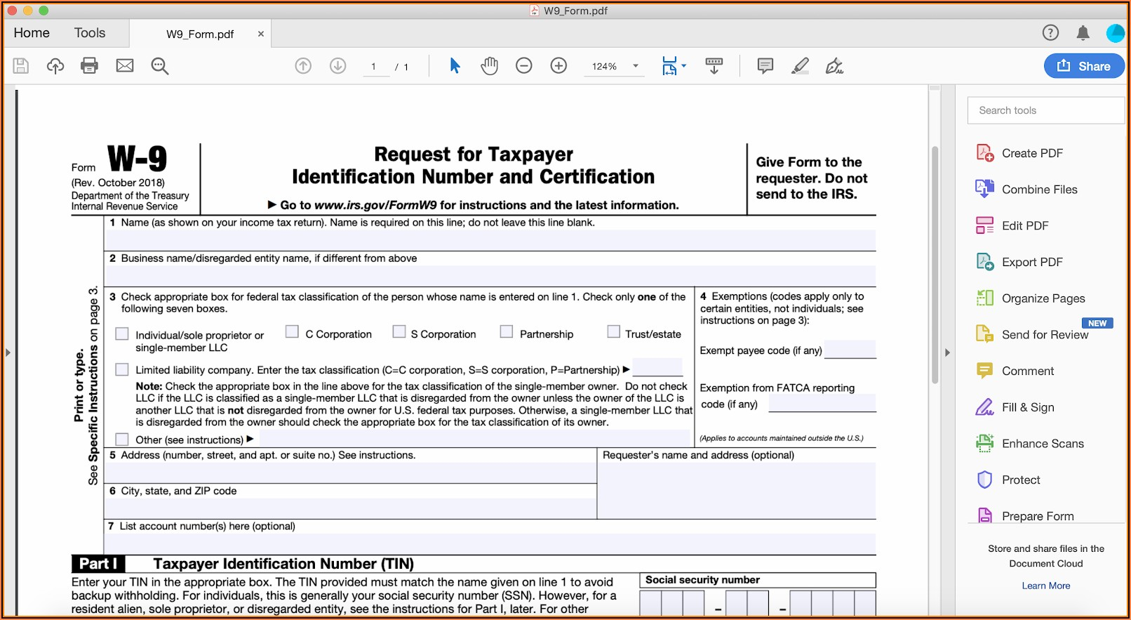 Create A Fillable Form In Pdf Online
