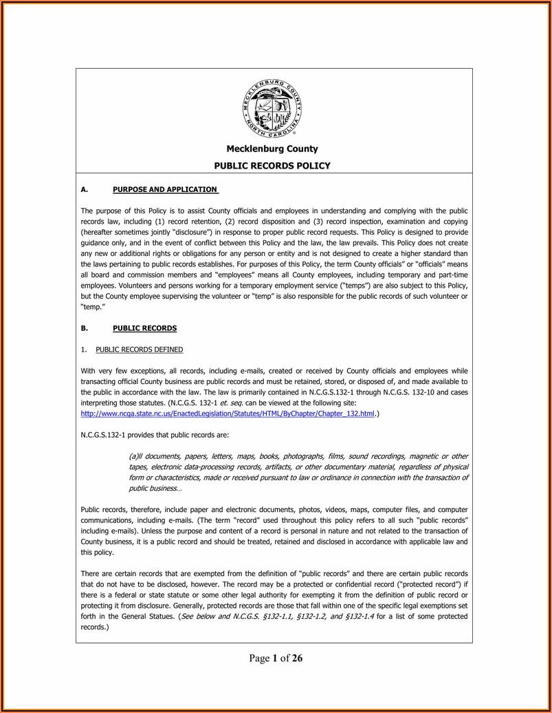 Divorce Forms Mecklenburg County Nc