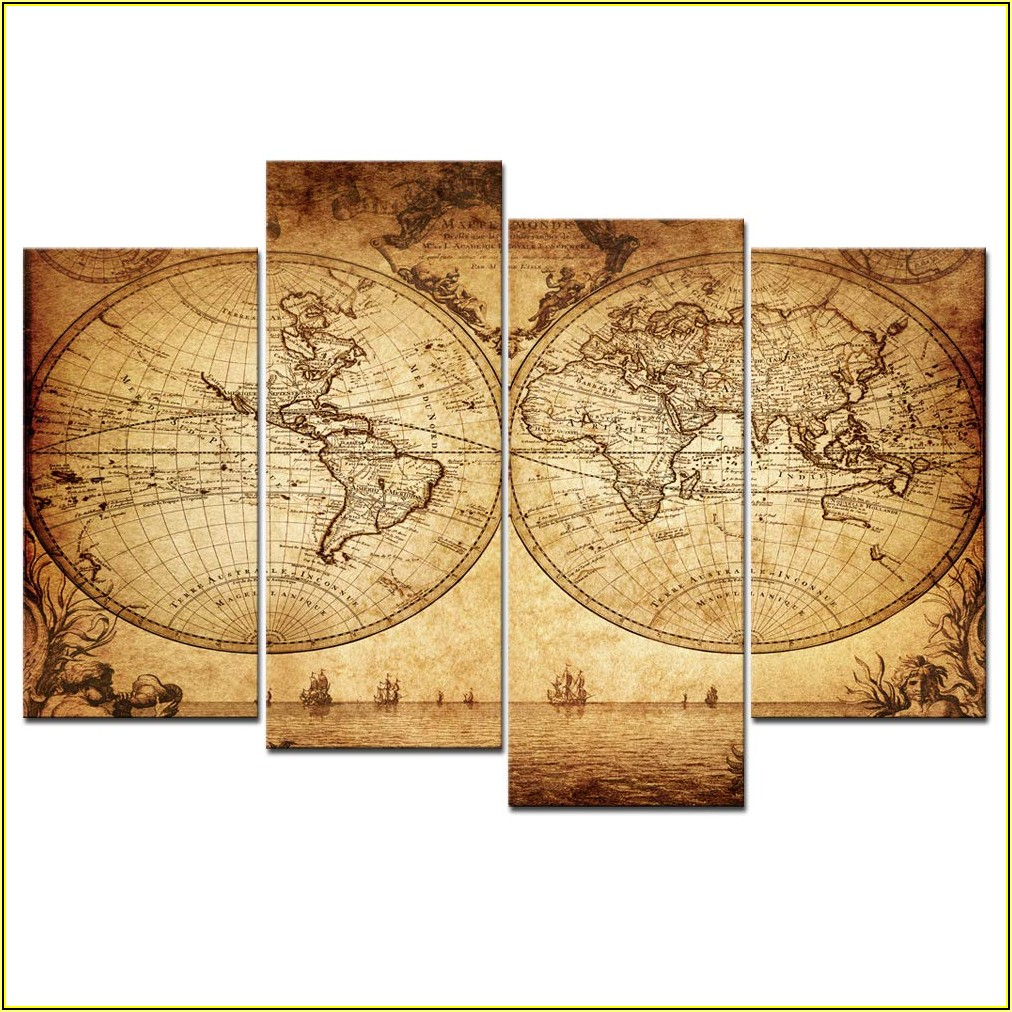 Extra Large Framed World Map