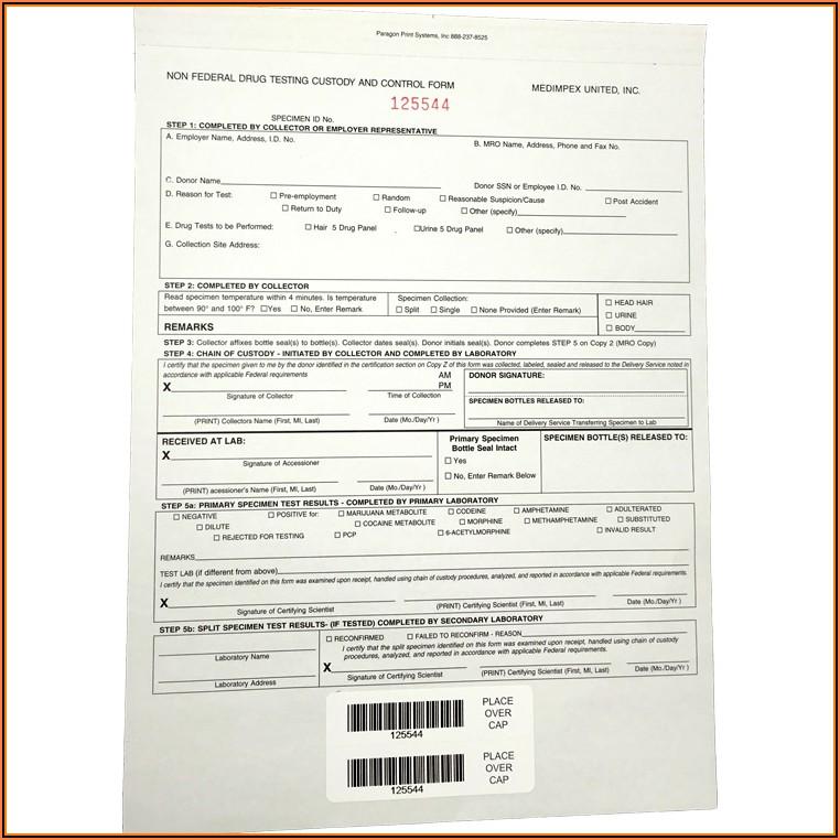 Federal Chain Of Custody Form Drug Test