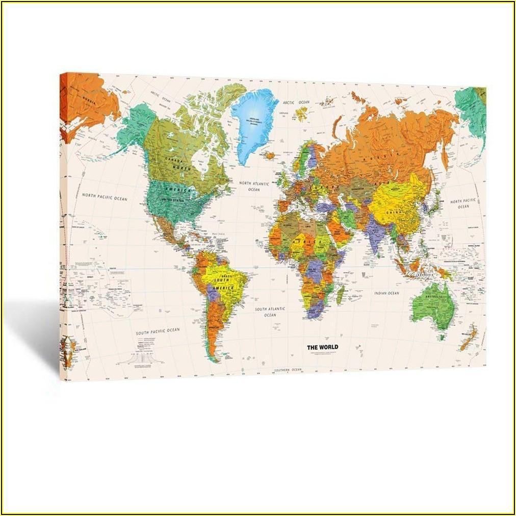 Framed World Map Poster