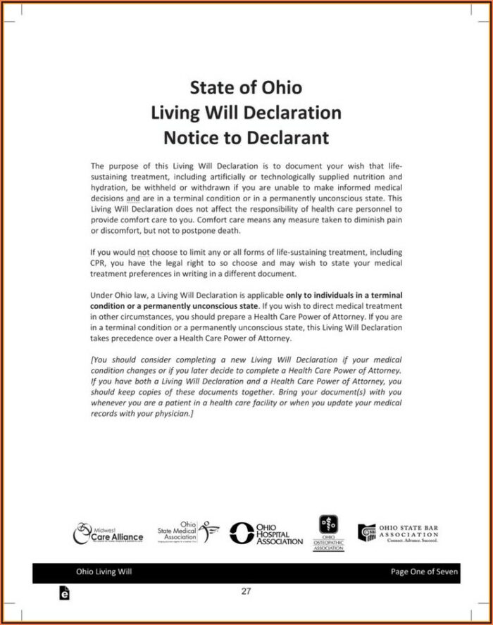 Free Advance Directive Forms