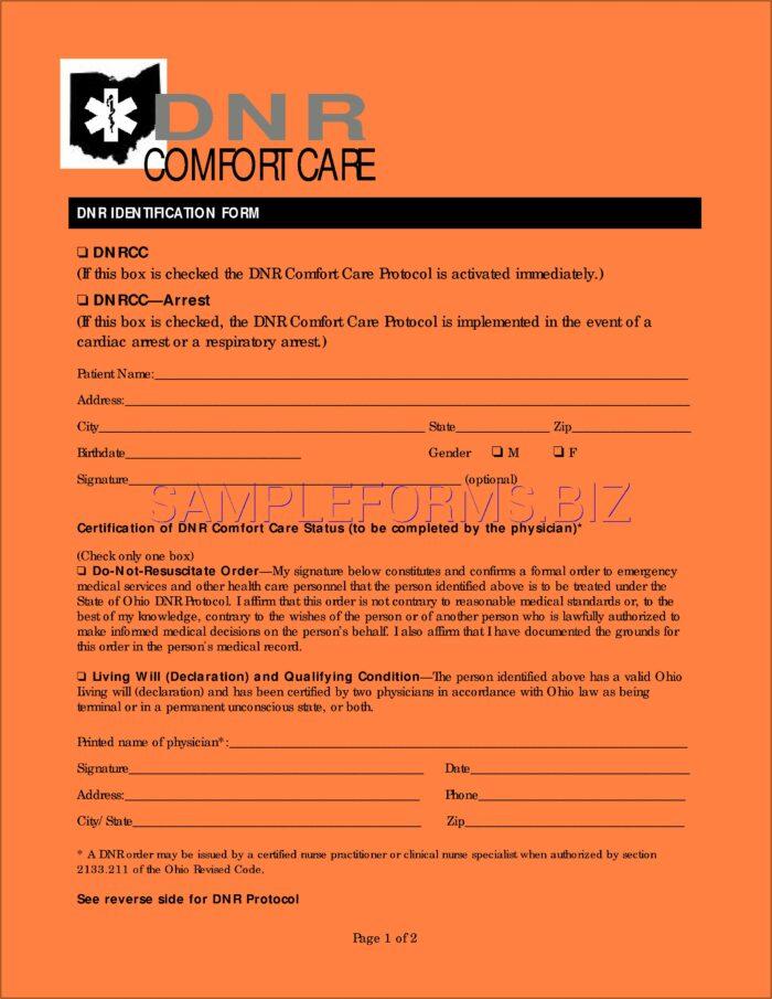 Free Advance Directive Forms Ohio