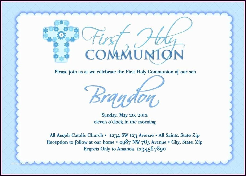 Free Communion Invitation Templates