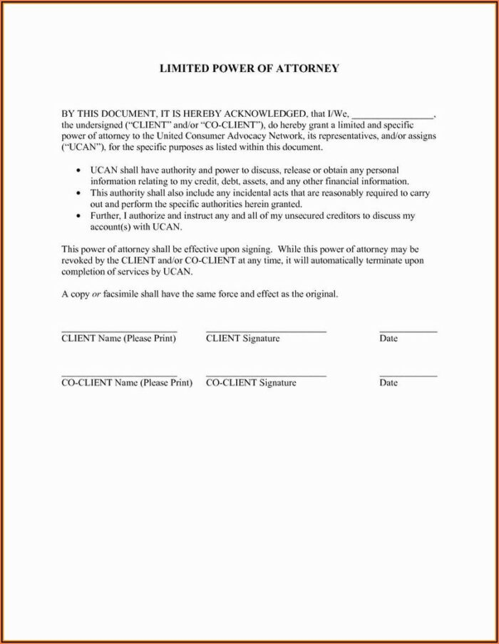 Free Durable Power Of Attorney Forms To Print New York