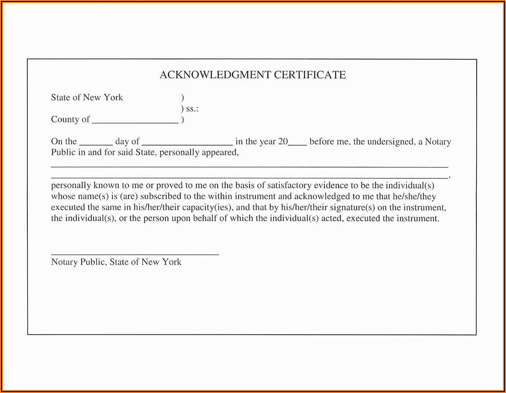 Free Notary Forms Texas