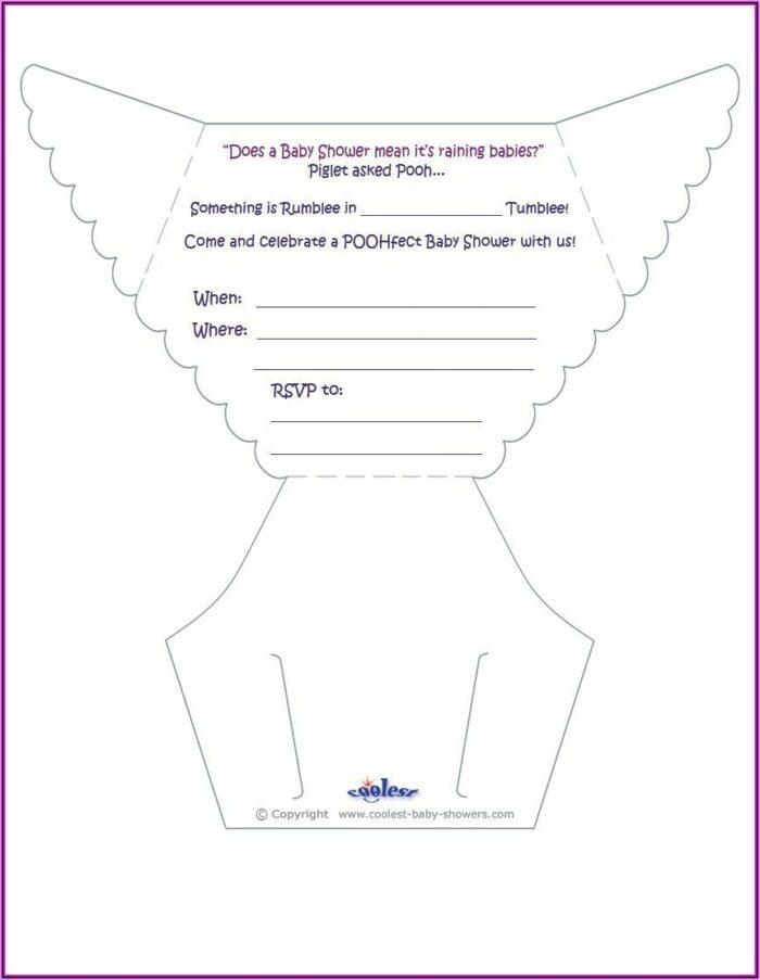 Free Printable Baby Shower Diaper Invitation Templates