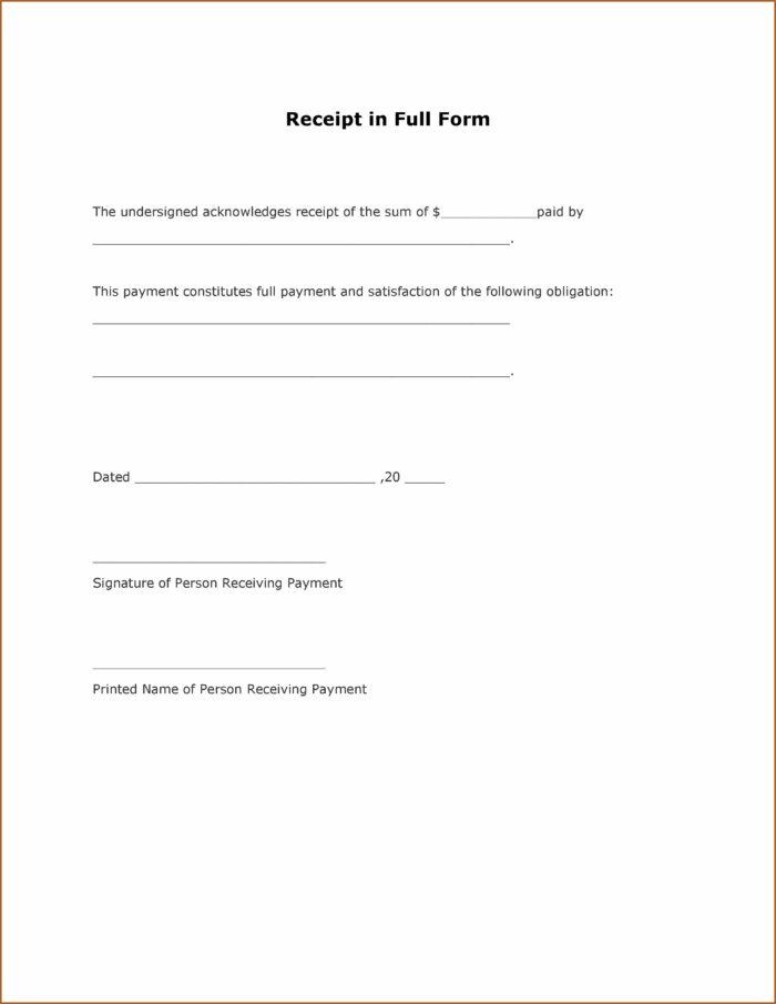 Free Receipt Form Download