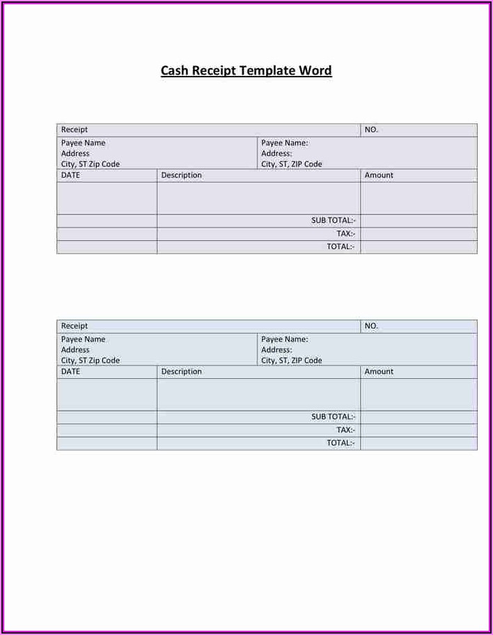 Free Receipt Template For Pages