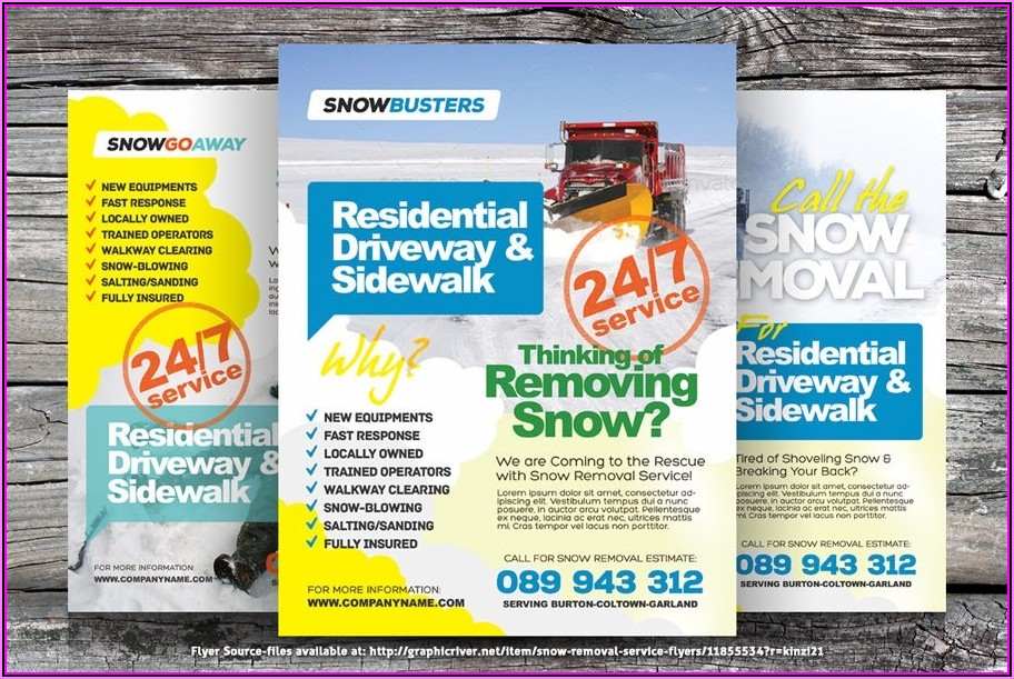 Free Snow Removal Flyer Template