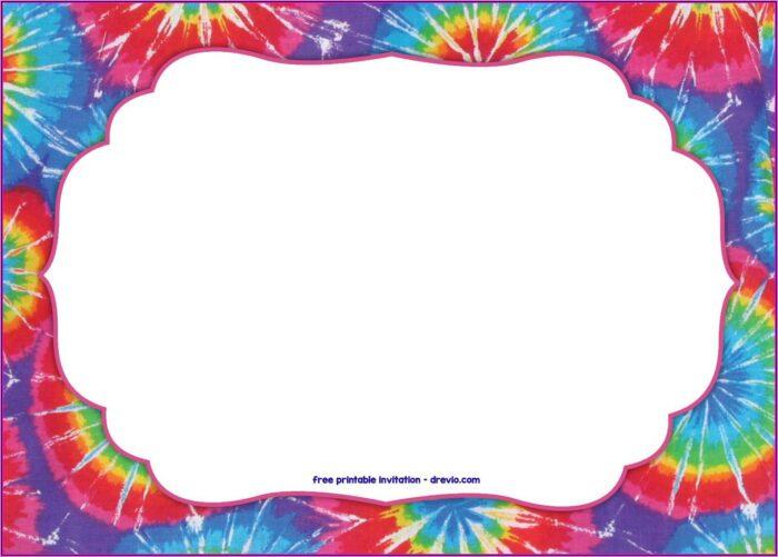 Free Tie Dye Birthday Invitation Template