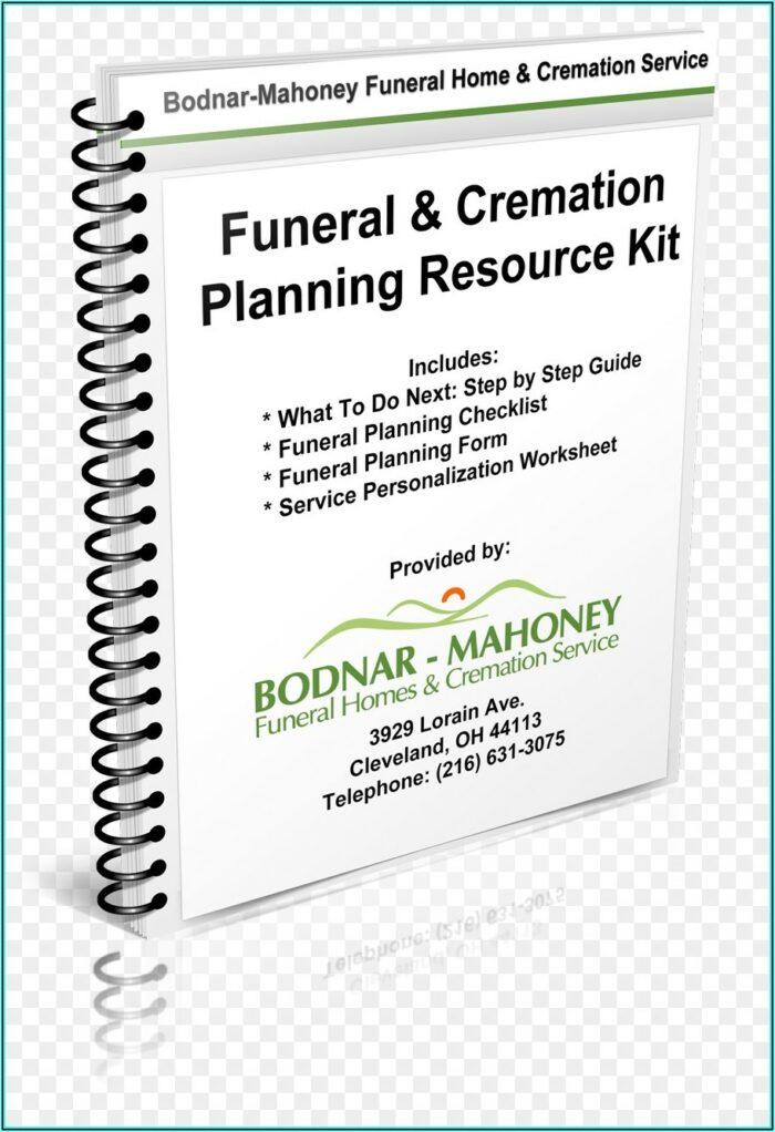 Funeral Planning Checklist Form