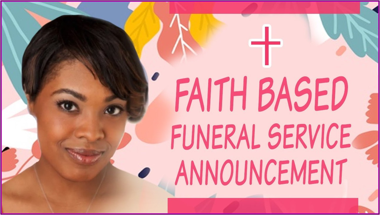 Funeral Service Announcement Sample