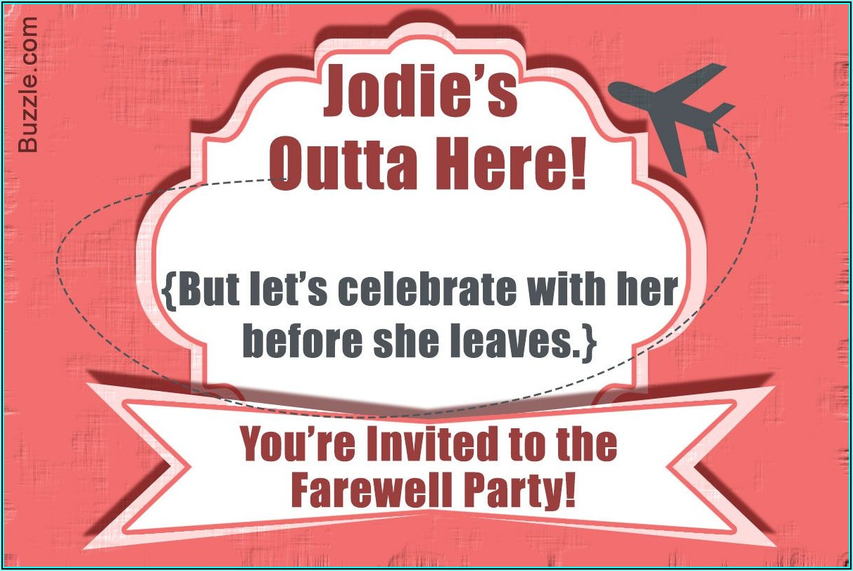 Going Away Happy Hour Invite Template