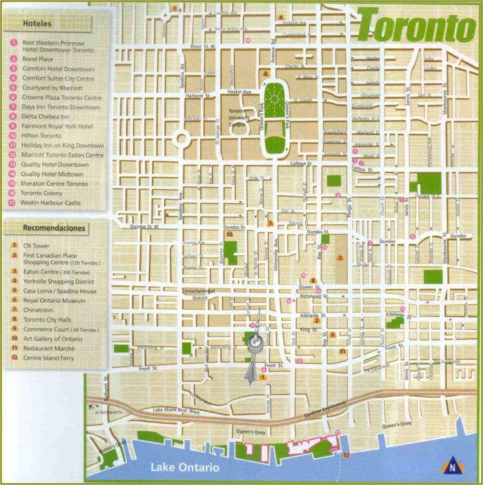 Google Maps Downtown Toronto Hotels