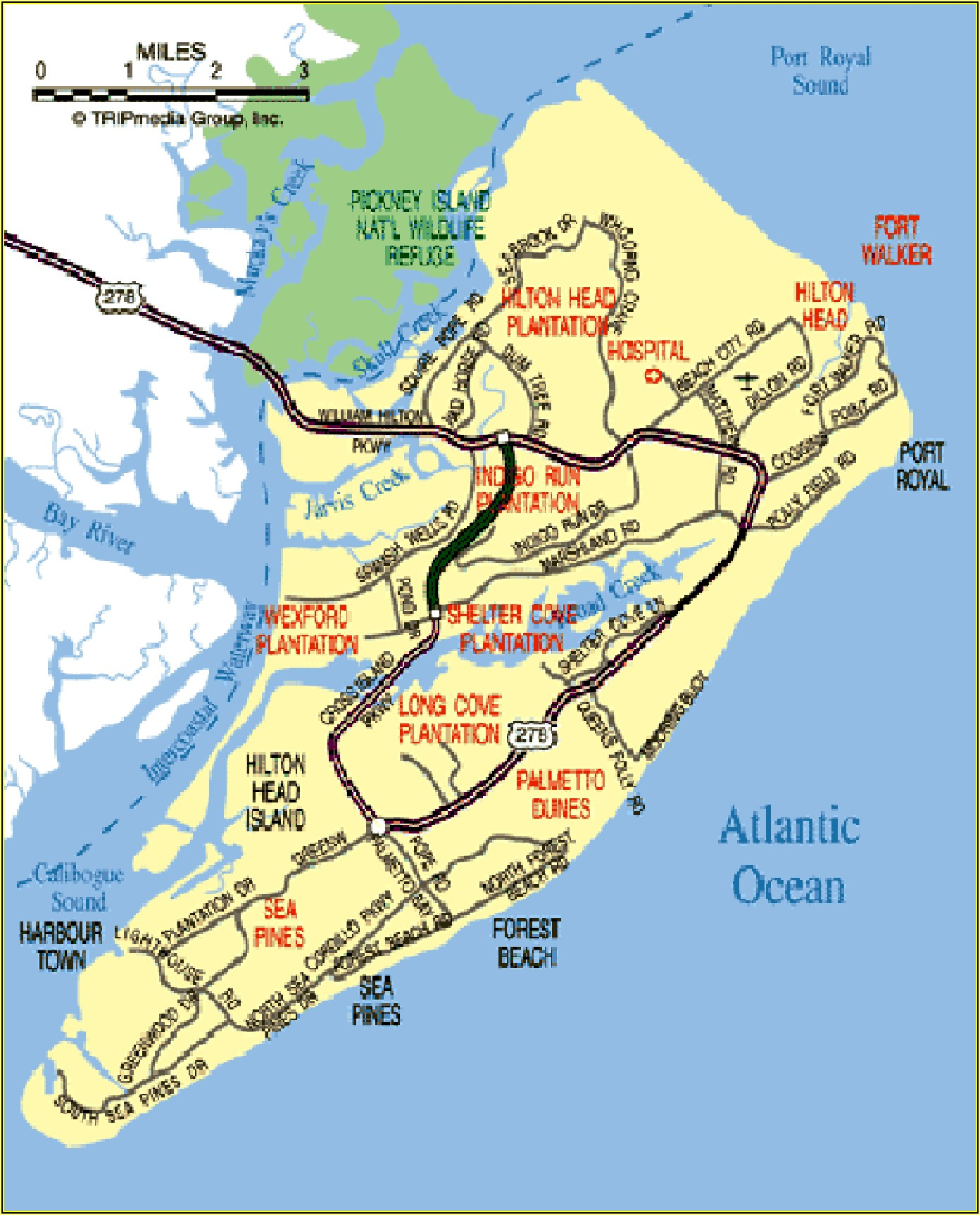 Hilton Head Island Map Of Plantations