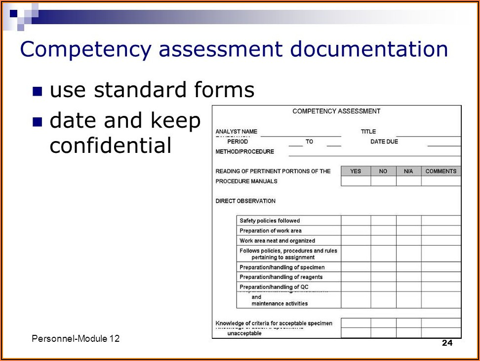Histology Competency Assessment Form