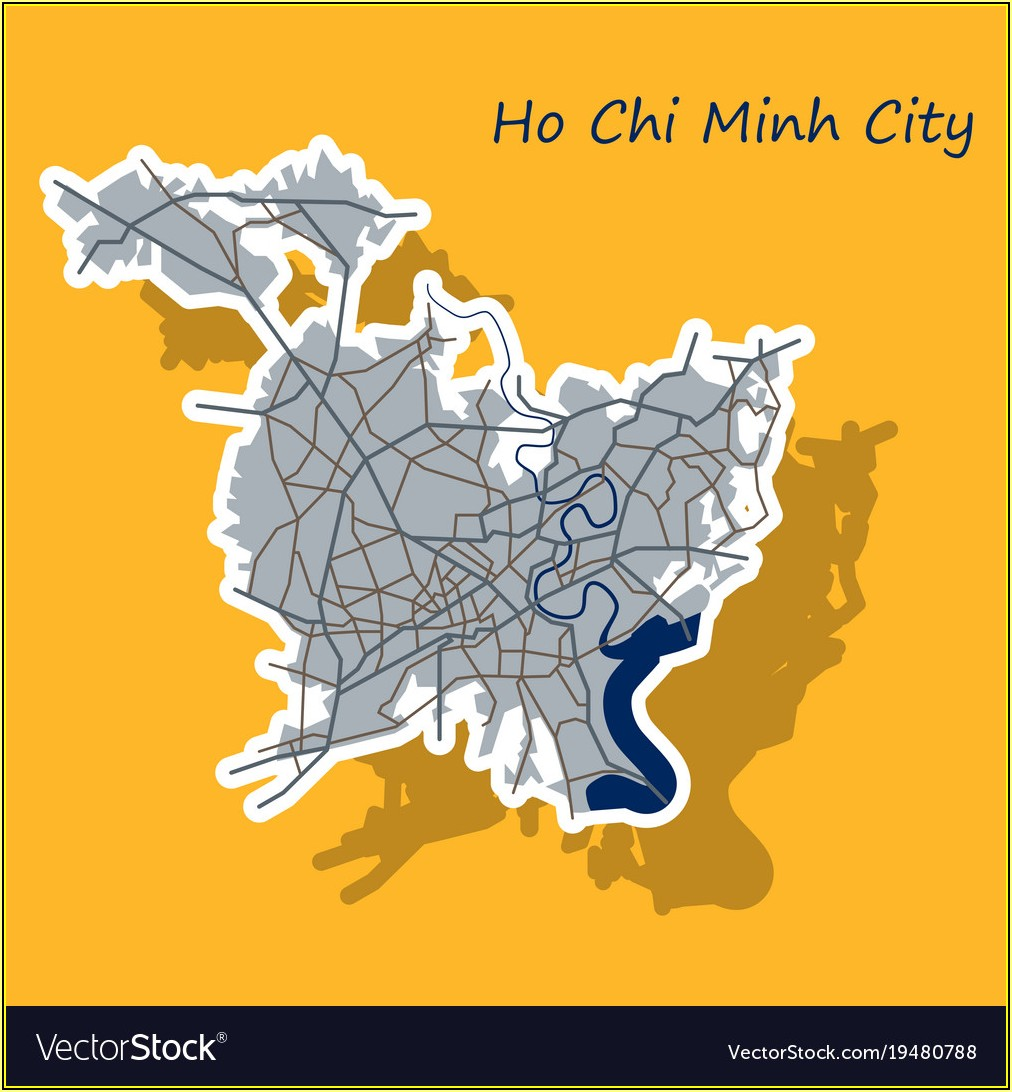 Ho Chi Minh City Map Vector